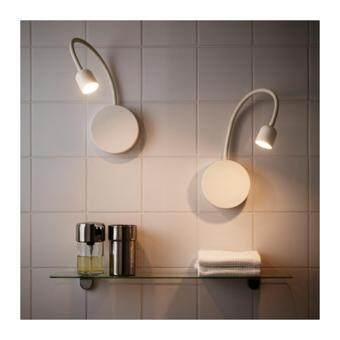 ต้องการขาย BLAVIK โคมไฟติดผนังห้องน้ำ LED wall lamp (ขาว)