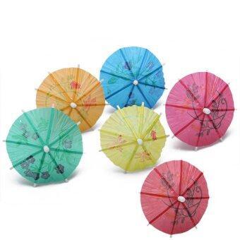 BolehDeals 144 ร่มกระดาษร่มค็อกเทลเครื่องดื่มร้อนฮาวาย