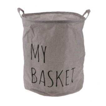 BolehDeals Folding Linen Clothes Laundry Basket Kids Toy Bin HamperStorage Bag Gray