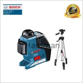 Bosch เครื่องเลเซอร์กำหนดแนวเส้น 360 องศา รุ่น GLL 3-80 Pพร้อมขาตั้ง BS 150 แถมฟรี ผ้าขนหนูเช็ดมือ Bosch ผืนเล็ก จำนวน 1 ผืน