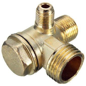 Brass Male Threaded Check Valve Connector for Air Compressor D:5mm/10mm/15mm - Intl