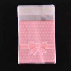 Candy Gift Bags Self Adhesive 100Pcs Pink - intl