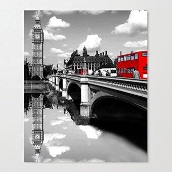 ผ้าใบพิมพ์ภาพผนัง 40*30 เซนติเมตร-Coliny แผงศิลปะภาพวาดผ้าใบ ตกแต่งบ้านโมเดิร์นกรอบไม้