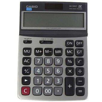Casio เครื่องคิดเลข ตั้งโต๊ะ รุ่น DX-120ST (White)
