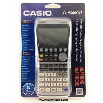 Casio Graphing เครื่องคิดเลขวิทยาศาสตร์แสดงผลแบบกราฟฟิก Casio รุ่น FX 9860GII