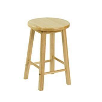 Chanathai เก้าอี้ทรงสูงไม้ยางพารา 100 % สูง 18 นิ้ว