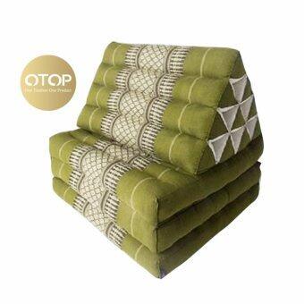 Chanathaiที่นอนนุ่น หมอนอิงพร้อมเบาะนอน 10 ช่อง 3 พับ ขนาด 190x55x36 cm. (สีเขียว)
