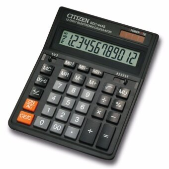 Citizen เครื่องคิดเลข Desktop Series รุ่น SDC-444S (สีดำ)