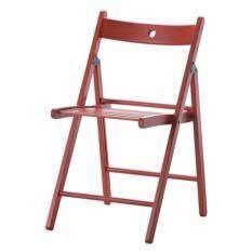 CK เก้าอี้พับ แทร์เย่ เก้าอี้ผ่านการทดสอบ  EN 12520 และ EN 1022 ด้านความปลอดภัยและความทนทาน สีแดง