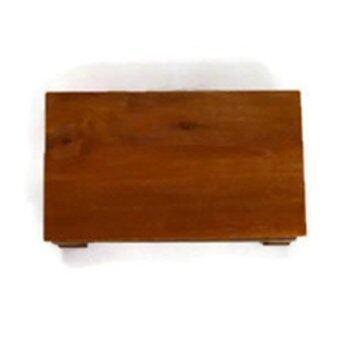 Clever Monk โต๊ะวางพระ ไม้สัก ขนาด 6x10นิ้ว - สีน้ำตาล