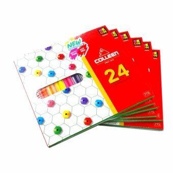 สีไม้ Colleen คอลลีน 24 สี 24 แท่ง รุ่น 775 จำนวน 6 กล่อง