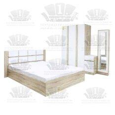 ชุดห้องนอน Condo 6ฟุต (สีโซลิค/ขาว) *ฟรีที่นอน+หมอนหนุ่น2ใบ