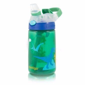 Contigo Kids Gizmo Flip กระติกน้ำเด็กพร้อมหลอดดูด ลายไดโนเสาร์ สีเขียว