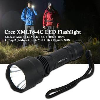 Convoy ไฟฉาย C8 Cree XM-L2 U2-1A 3/5-Mode EDC AK47 LED Flashlighttorche lantern