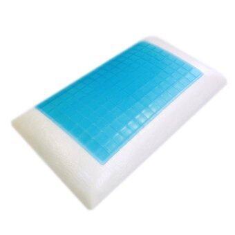 Cooling Gel Comfort Bed Pillow With Memory Foam Orthopedic Sleep New - intl