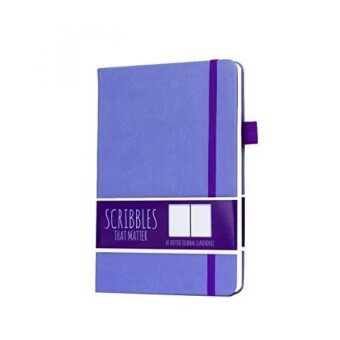 CYBER MONDAY DEAL Scribbles That Matter (Pro version) Dotted Journal Notebook Diary A5 - Elastic Band - Beautiful Designer Cover - Premium Thick Paper (Lavender) - intl