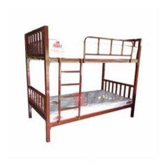 DAXTON เตียงเหล็ก 2 ชั้น คุณภาพ เคลือบพ่น รุ่น HyBrid Lofts (Brown) สีน้ำตาล เป็นที่นอนขนาดมาตฐาน(ส่งกรุงเทพฯและปริมณฑลเท่านั้น)