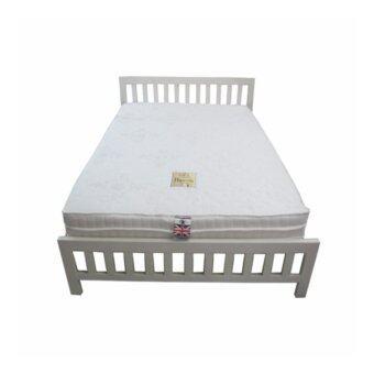DAXTON เตียงเหล็กกล่องพร้อมที่นอนสปริง รุ่น Baron ขนาด 6 ฟุต (สีขาว) (ส่งกรุงเทพฯและปริมณฑลเท่านั้น)