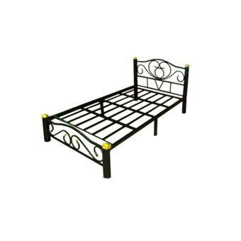 DAXTON เตียงเหล็กEpoxy ขาเตียงหนา 3 นิ้ว ขนาด 3.5 ฟุต รุ่น ICON3 - 3.5 - Epoxy Black(ส่งกรุงเทพฯและปริมณฑลเท่านั้น)