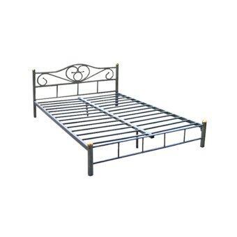 DAXTON เตียงเหล็ก Epoxy ขนาด 5 ฟุต รุ่น ICON2 - 5 - Epoxy Silverเป็นเตียงขนาดมาตฐาน(ส่งกรุงเทพและปริมณฑลเท่านั้น)