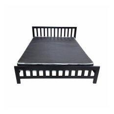 DAXTON Lofts เตียงเหล็กกล่องพร้อมที่นอนสปริง PVC ขนาด 5 ฟุตหนา 8 นิ้ว รุ่น Lofts 5 สปริง(สีดำ)(ส่งกรุงเทพฯและปริมณฑลเท่านั้น)