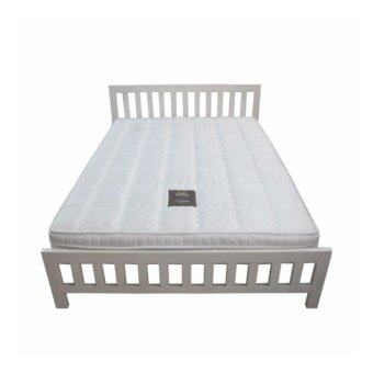 DAXTON เตียงเหล็กกล่องพร้อมที่นอนสปริง รุ่น Oajan Royal ขนาด 5 ฟุต (สีขาว) ส่งกรุงเทพและปริมลฑลเท่านั้น