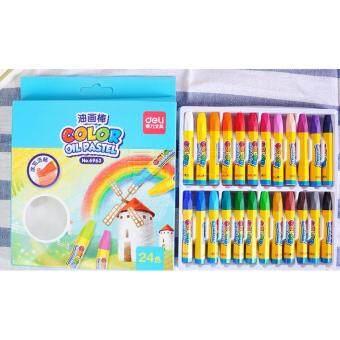 deli ดินสอระบายสี OIL PASTEL ชุด24 สี No.6963
