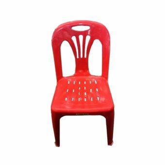 DSB Decor เก้าอี้พลาสติก มีพนักพิง รุ่น SR (สีแดง)