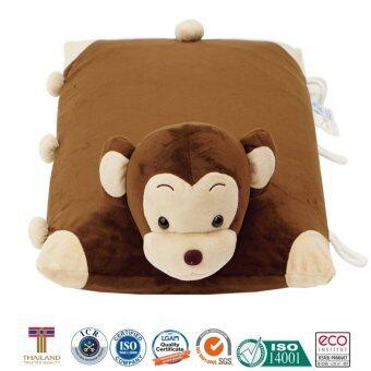 หมอนเด็ก หมอนข้างเด็ก หมอนยางพาราสำหรับเด็ก ใช้หนุนและเป็นหมอนข้างได้ การ์ตูนรูปลิง