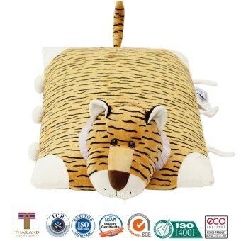 หมอนเด็ก หมอนข้างเด็ก หมอนยางพาราสำหรับเด็ก ใช้หนุนและเป็นหมอนข้างได้ การ์ตูนรูปเสือ