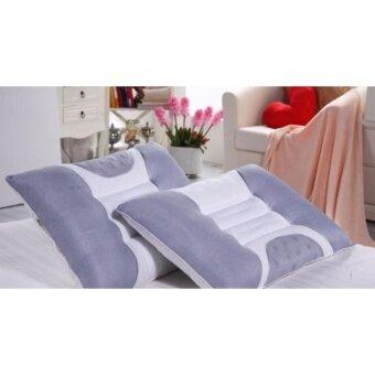 eazy shopee หมอนสุขภาพ หมอนเม็ดขี้เหล็ก ช่วยให้กล้ามเนื้อต้นคอผ่อนคลาย เลือดไหลเวียนได้สะดวก นอนหลับได้สนิทยิ่งขึ้น – สีเทา ขาว