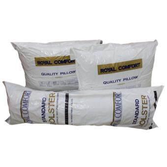 เซ็ตหมอนหนุนและหมอนข้าง เพื่อสุขภาพ เนื้อนุ่ม นอนสบาย Quality Pillow (White)