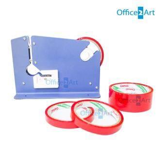 เครื่องรัดปากถุง แท่นเทปรัดปากถุง เทปรัดผัก รุ่น K-9 แถมฟรี เทปรัดปากถุงสีแดง แพ็ค 6 ม้วน
