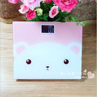 Electronic weight scale เครื่องชั่งน้ำหนักดิจิตอล กาตู็น (pink)