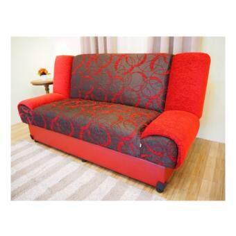 รีวิว ENZIO โซฟาปรับนอน ใหญ่พิเศษ3 ที่นั่ง หุ้มผ้าลาย รุ่น Nature-3 Red Circleส่งกรุงเทพและปริมณฑลเท่านั้น