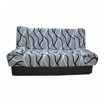 ENZIO โซฟาปรับนอน 3 ที่นั่งขนาดใหญ่พิเศษ หุ้มผ้าลาย รุ่น Nature-3-Watermark gray CS-26 (ส่งกรุงเทพฯและปริมณฑลเท่านั้น)
