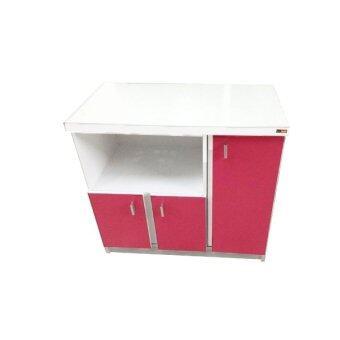 ENZIO ชั้นวางทีวี 80 ซม. รุ่น control - White/Pink