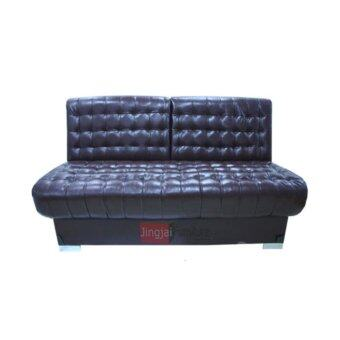 ENZIOโซฟาปรับนอน หุ้มหนังBicast รุ่น Step-180 (Black)(ส่งกรุงเทพฯและปริมณฑลเท่านั้น)
