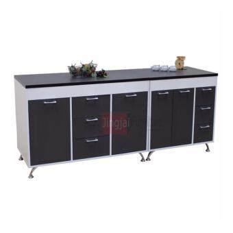ขายด่วน ENZIO Counter ตู้ครัวเมลามีน (อเนกประสงค์) ขนาด 200x60x84 รุ่น Delight Combine (Loft/White) สีลอฟ/ขาว ส่งกรุงเทพและปริมณฑลเท่านั้น
