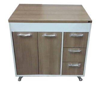 สนใจซื้อ ENZIO Counterตู้ครัวเมลามีน (ทนน้ำและความร้อนดีเยี่ยม) ขนาด80x60x84 รุ่น Delight D-80 (White/Cappuccino)
