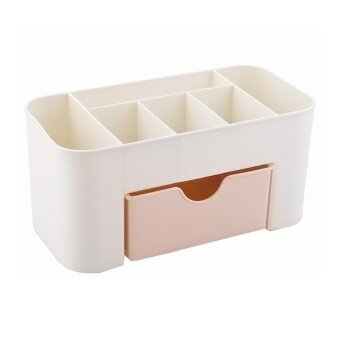 ERA Plastic Storage Cabinets Non-Slip Bottom Drawer Storage Box Dressing Case Pink - intl