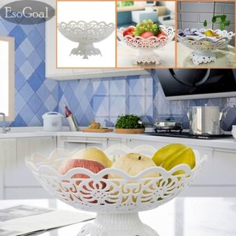 EsoGoal Fruit Plate Hollow Plate for Fruits Cakes Desserts Candy Buffet Stand for Home & Party - intl