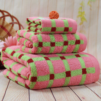 ETOP Three-piece cotton towels bath towels (Intl)