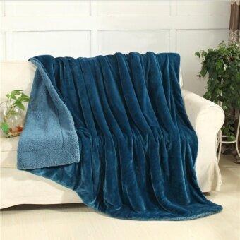 ผ้าห่มขนแกะ เกรดพรีเมียม นุ่มพิเศษ ป้องกันไรฝุ่น (European Grade) ขนาด 6 ฟุต (200x230cm)