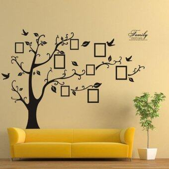Family Tree Bird Wall Sticker Photo Picture Frame Removable DecalHome Art Decor