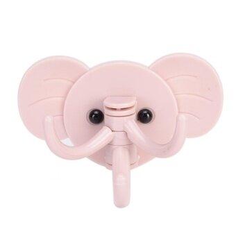 เสนอราคา Fashion Elephant Decorative Key Holder Wall Shelf Rack Hook HomeOrganizer Bathroom Kitchen Accessories Pink - intl