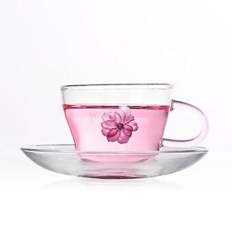 First House โปร่งใสกับถ้วยแก้วถ้วยและจานรอง