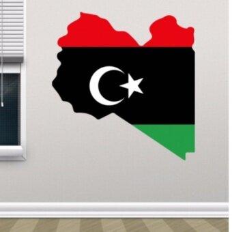 Flag map of Libya wall vinyl sticker custom made home decorationwall