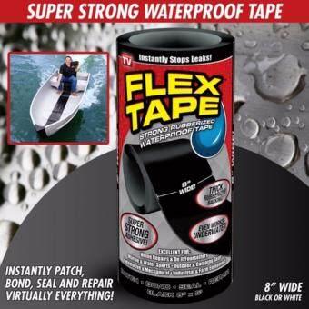 FLEX TAPE เทปกาวมหัศจรรย์ แปะ เชื่อม ซีล ซ่อมแซมติดได้ทุกรอยรั่ว กันน้ำ เหนียวติดทนนานด้วยวัสดุจาก USA สินค้าคุณภาพ ของแท้ 100% รุ่นไซต์ใหญ่ 8 นิ้ว X 5 ฟุต
