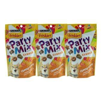 รีวิว Friskies Partymix Cheese Craze ขนมแมว ปาร์ตี้มิกซ์ ชนิดเม็ด รสเชดด้าร์ ชีส กัวร์ด้าร์ และอีแคมชีส 60g ( 3 units )